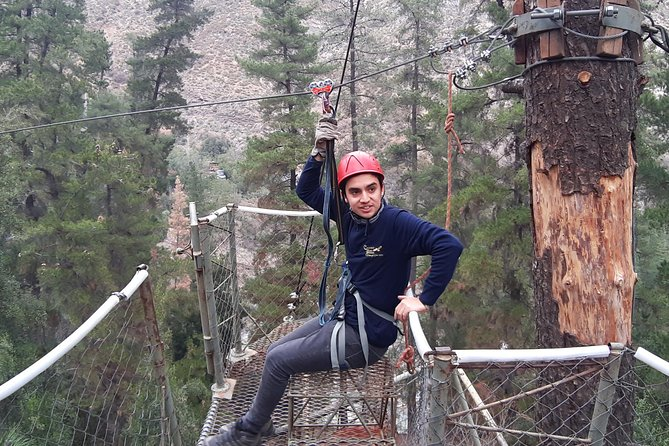Maipo Canyon Zip Lining and Canopy plus Winery Tour and Tasting