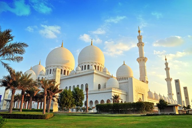 Sheikh Zayed Grand Mosque & Louvre Museum from Dubai