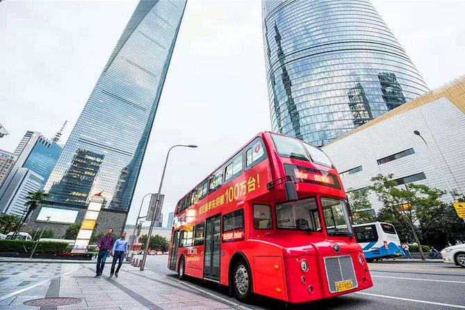 Group Tour: VIP Shanghai Oriental Pearl Tower and Retro Double-Decker Bus