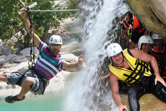 Canyoning + Zipline Safari Combo Adventure