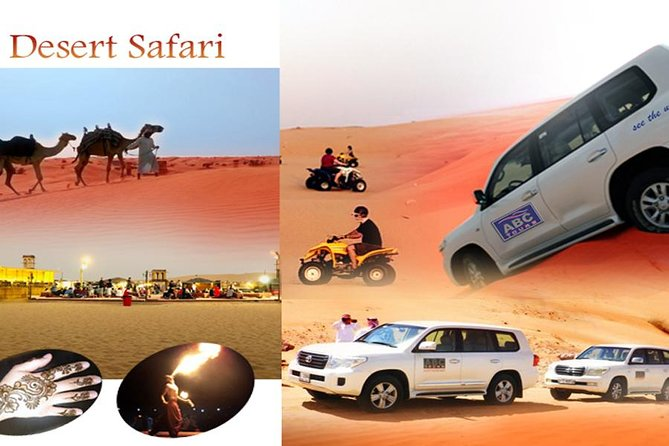 Dubai Desert 4x4 Safari, ATV Quad bike 30 minutes, BBQ, live show, sand boarding