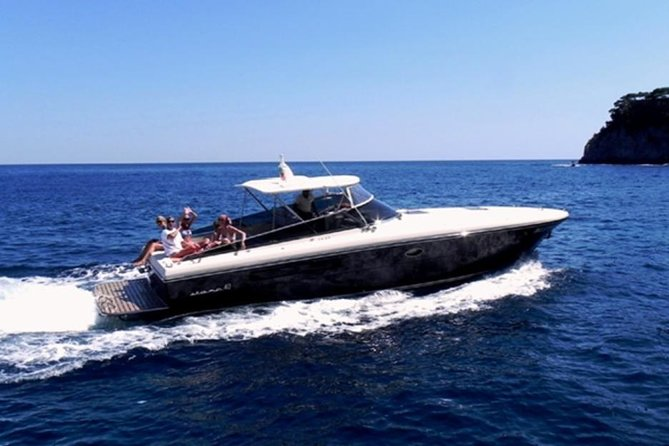 Capri Island in Private Luxury 40 feet Speedboat from Amalfi Coast