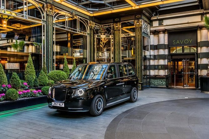 East tour of London by the traditional Electric Black Taxi (Electocab Ltd)