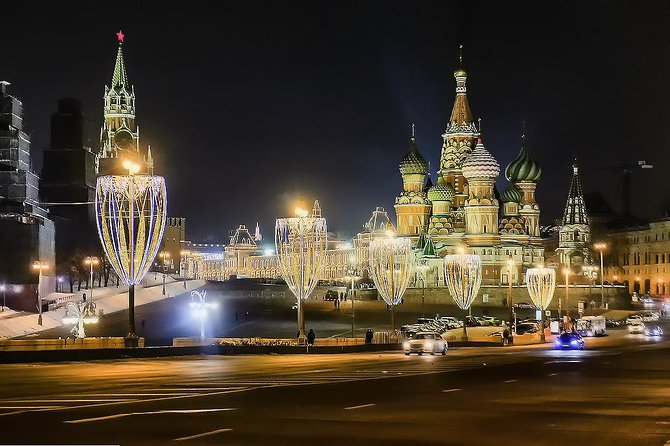 Moscow by Night: 4-Hour Sightseeing Car Tour