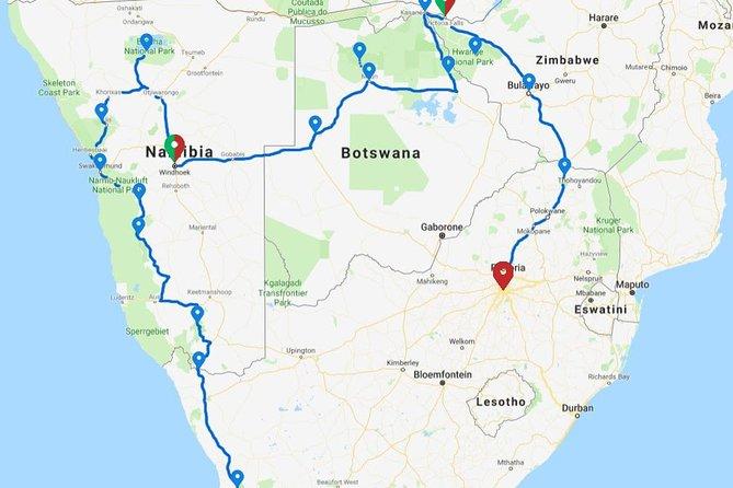 25 Days Cape to Vic Falls & Zimbabwe Serviced Camping