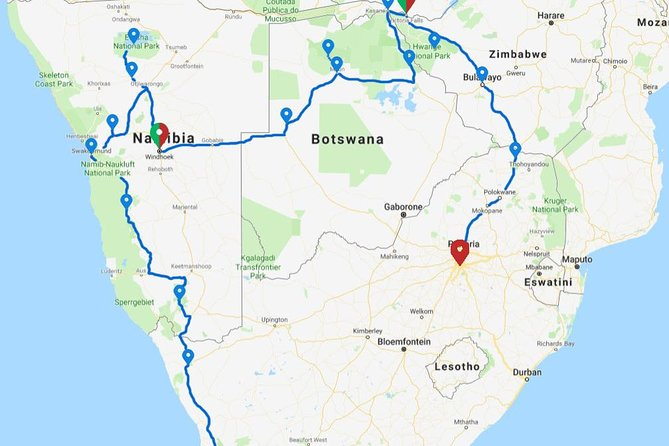25 Days Cape to Vic Falls to Johannesburg Accommodated Adventure