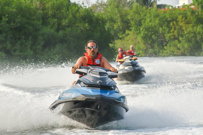 Jet Ski Guided Tour: Discover Cancun's Mangrove Canals (GO SOLO 1pax)