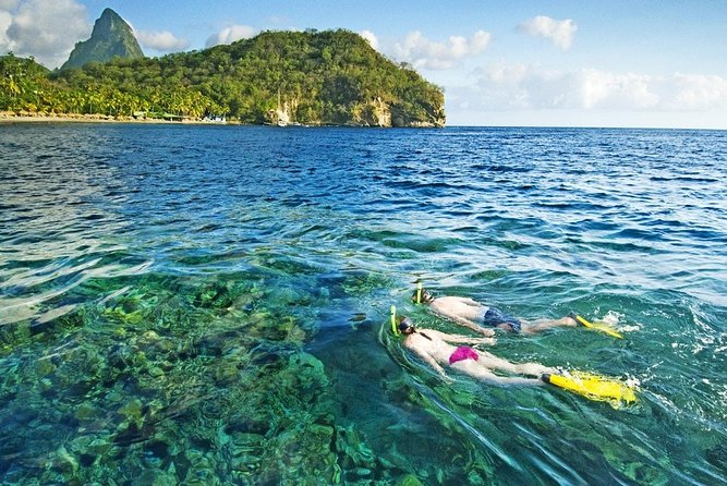 St Lucia Land Taxi to Snorkel at Anse Chastanet Beach