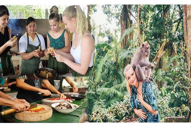 Subak Cooking class activity and Ubud Sacred Monkey Forest Sanctuary Tour