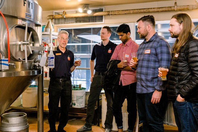Go behind the scenes in an active brewery