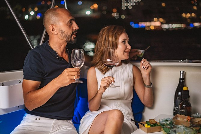 Romantic night ocean cruise