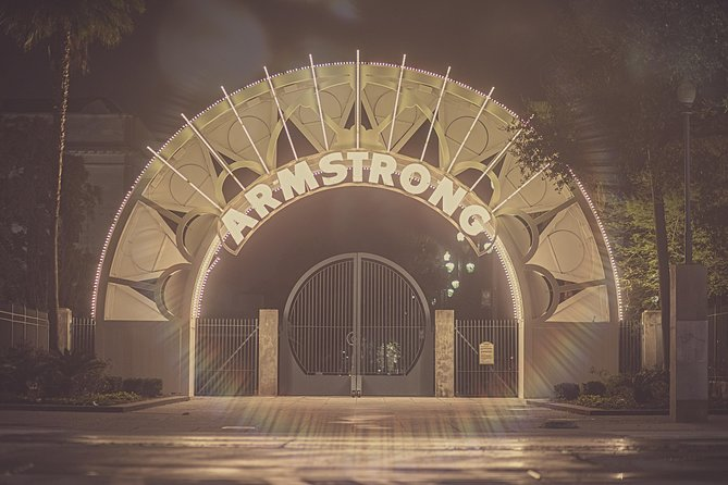 The entrance of Armstrong Park, our starting point