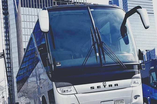 Luxury VIP New York City Airport Arrival Group Transfer by Coach Bus WIFI