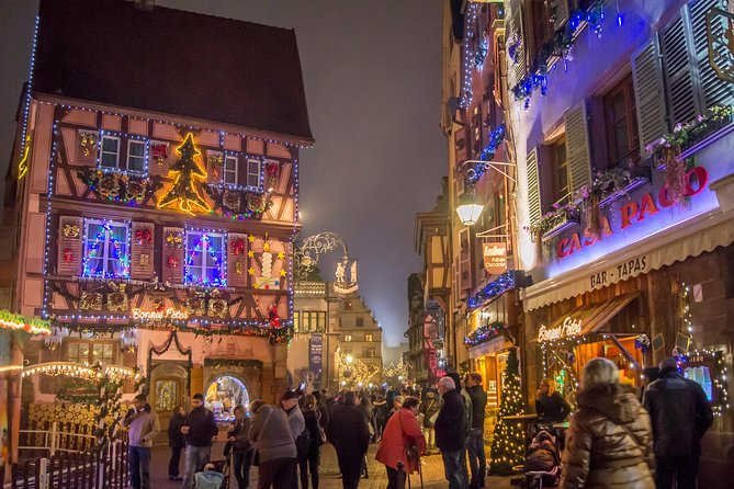 Christmas markets in Riquewihr, Eguisheim and Colmar from Strasbourg