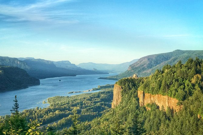 The views of the Columbia River Gorge are stunning -- what a gorgeous place to start the tour.