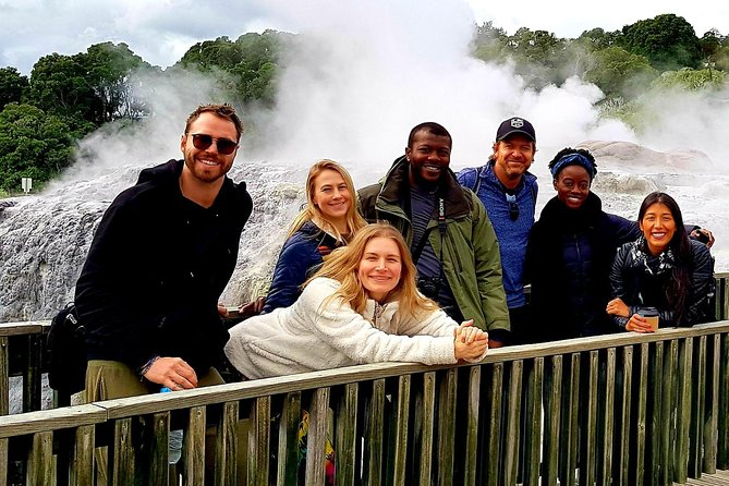 Waitomo Caves and Rotorua including Te Puia - Small Group Tour from Auckland