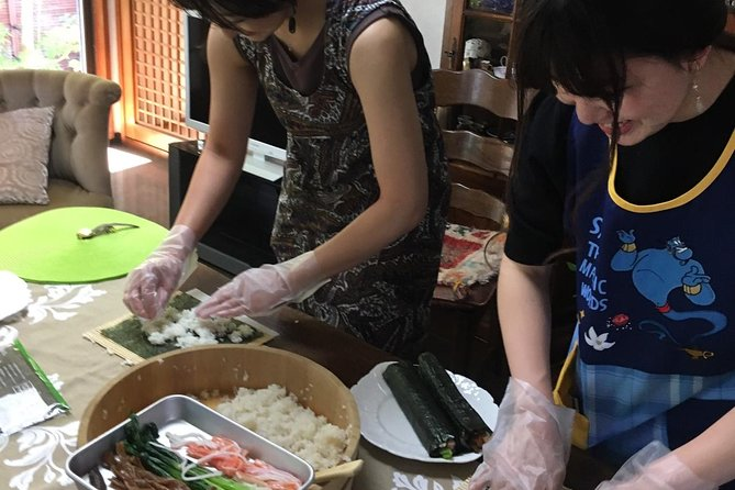 Enjoy Japanese Food Cooking and Tea Ceremony Experience in Kimono