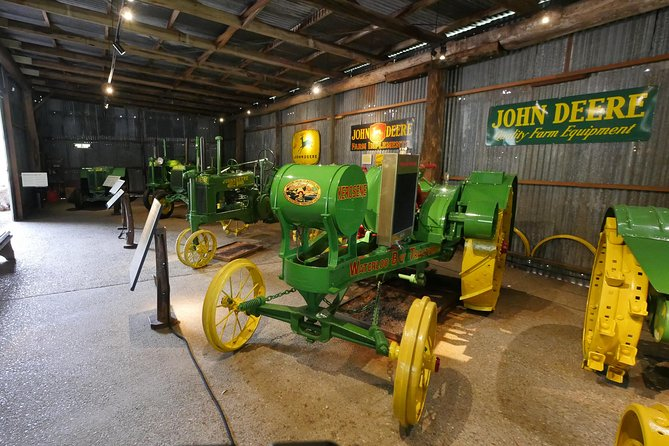 John Deere Tractor Shed Exhibit - rare and vintage tractors on display