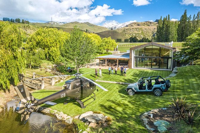 Heli Jeep Wine Tour from Cromwell, Central Otago
