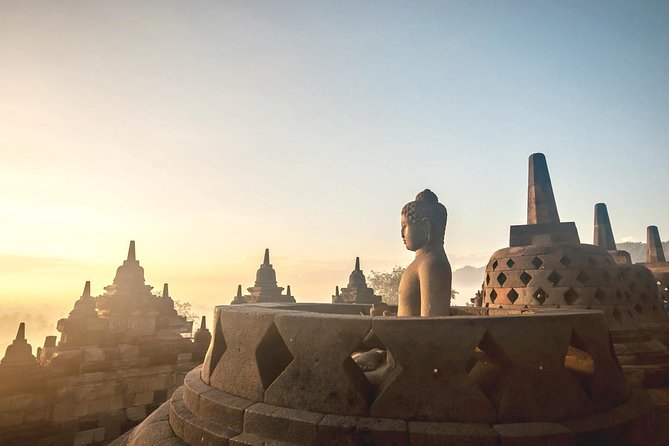 Sunrise Borobudur View from Afar and Close-up