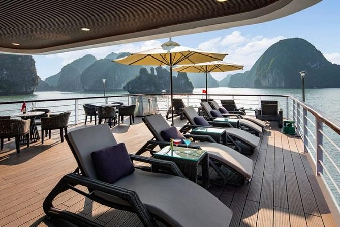 Halong Bay Luxury 1 Day ( 8 Hours Cruise ) including pick up and drop off.