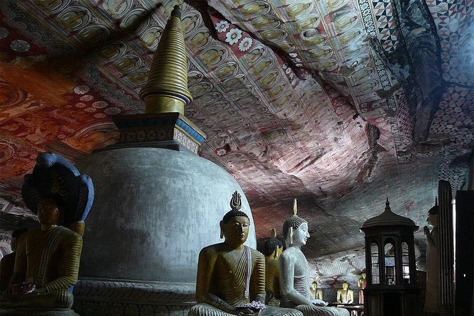 Sigiriya Rock Fortress and Dambulla Cave, All Inclusive Day Tour From Kandy.