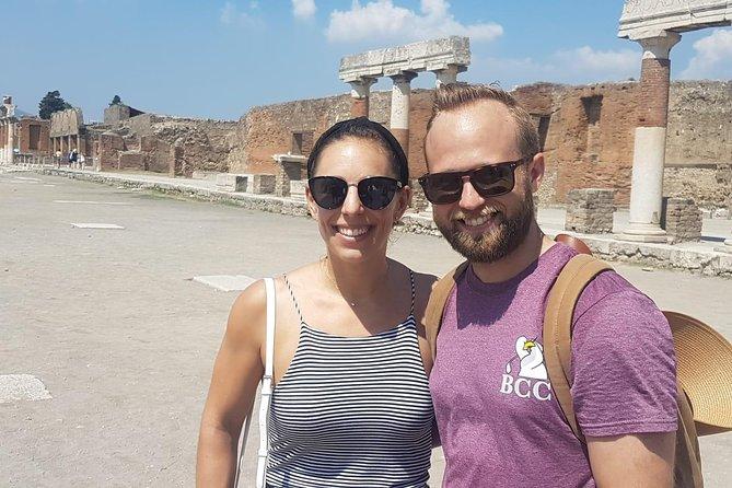 Skip-the-Line Pompeii & Volcano Vesuvius Day Tour w Hotel or Port Pickup