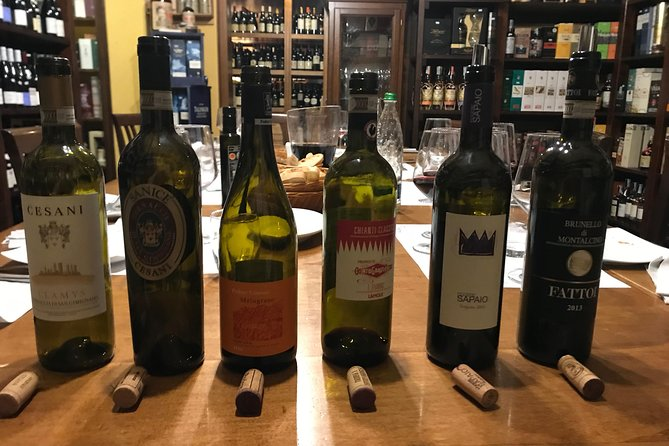 The great wines of Tuscany - 5 wines and a taste of local products