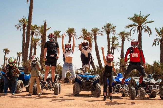 2 Hours Quad Bike in Marrakech Palm Groves with Tea Break