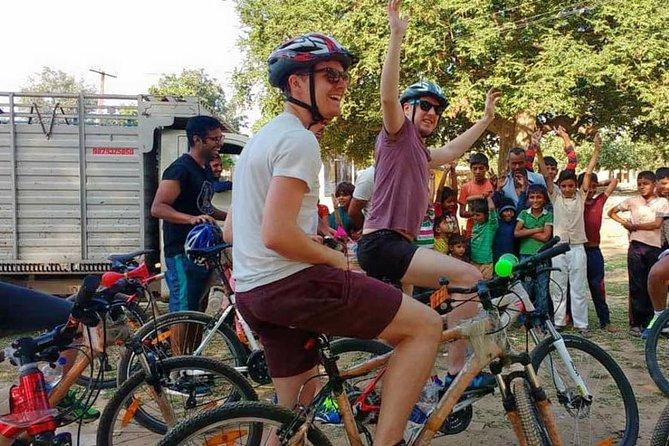 Cycling tour to Kanota Lake, Rajasthan