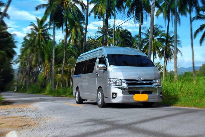 Private Minivan Transfer from Khao Lak hotels to Phuket Airport