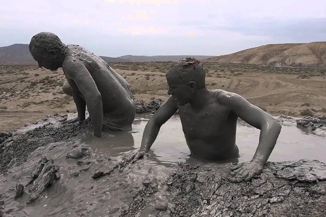 "Mud Bath, Mud diving, lake swimming, ""beer, snack and lunch"" and Gobustan museum"