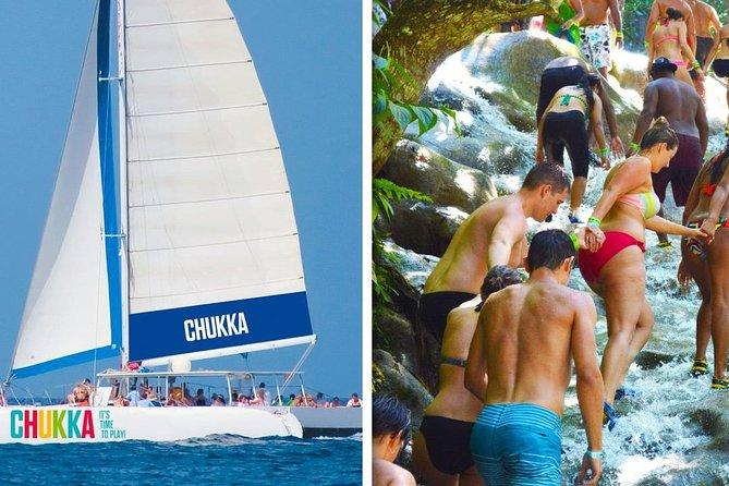 Cruzeiro de Catamarã em Chukka para as Cataratas do Rio Dunn saindo de Ocho Rios ou Montego Bay