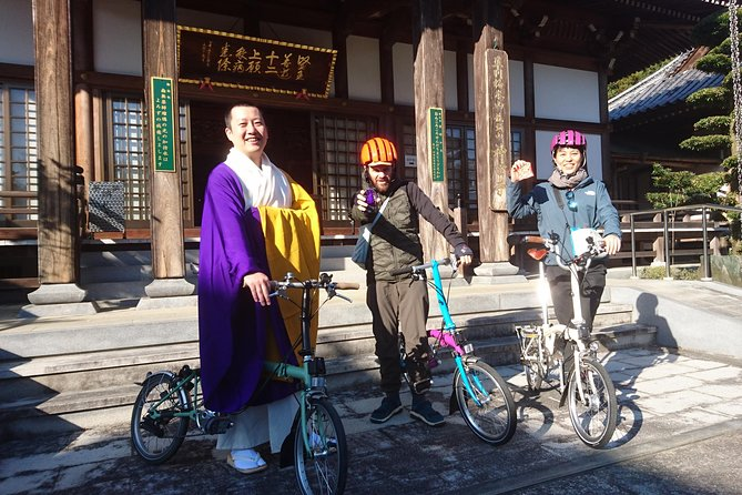 Handa Buddhist Temple and Somen Noodle Brompton Bicycle Tour