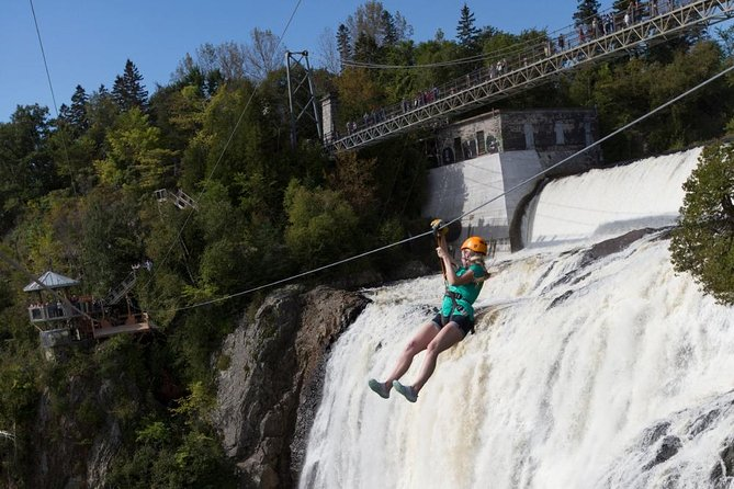 Parc de la Chute Montmorency Zip Line Over the Falls