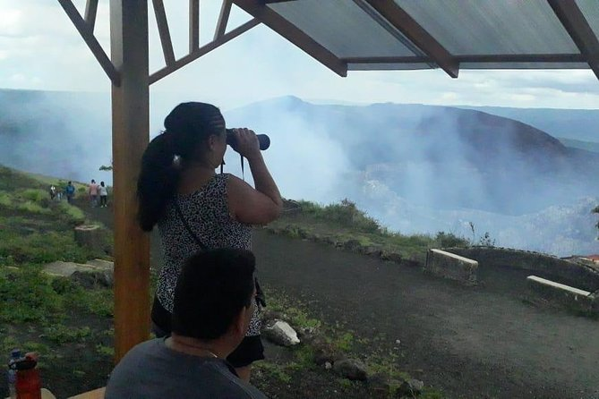 lookout at the main crater from Masaya Volcano during the day