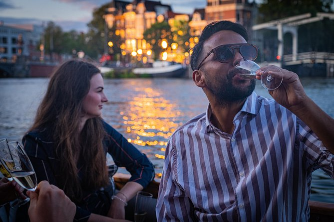 Private Boat Tour: Champagne Canal Cruise in Amsterdam