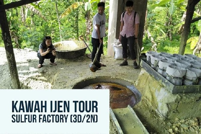 Kawah Ijen Tour Sulfur Processing Factory (3D/2N)