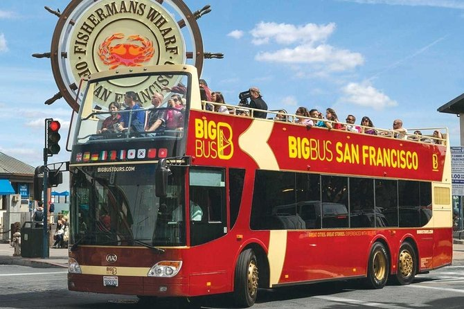 San Francisco Hop On Hop Off Bus Tour | 1 Day Pass, Unlimited Use, Live Guide