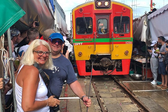 Railway Market &Train, Floating Market &Boat, Coconut & Salt Farm: Private Tour