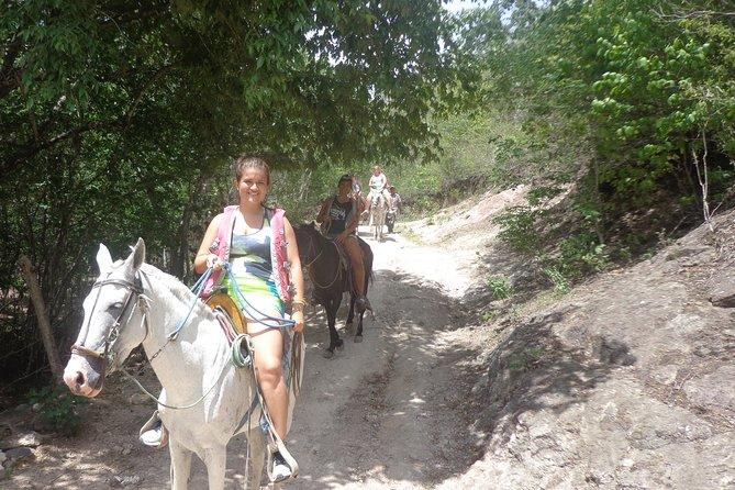 Horseback riding in the Somoto Canyon