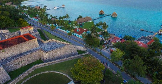 BACALAR & CENOTE AZUL from Riviera Maya and Cancun (Private)