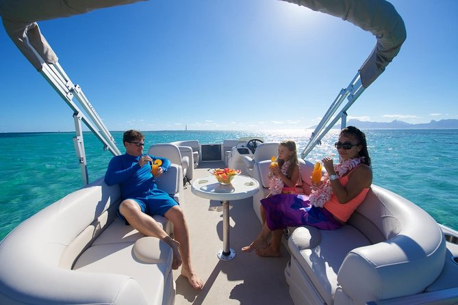 Private Snorkeling & Lagoon Tour to Meet Sharks & Rays in Bora Bora on a boat