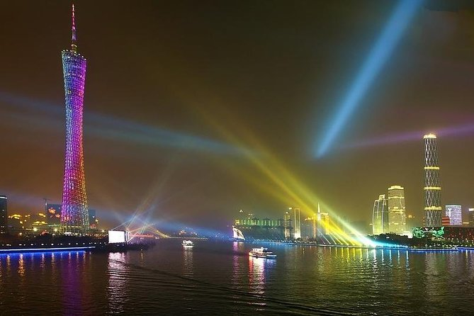 Guangzhou Night Pearl River Cruise VIP Seating with Private Transfer photo 1
