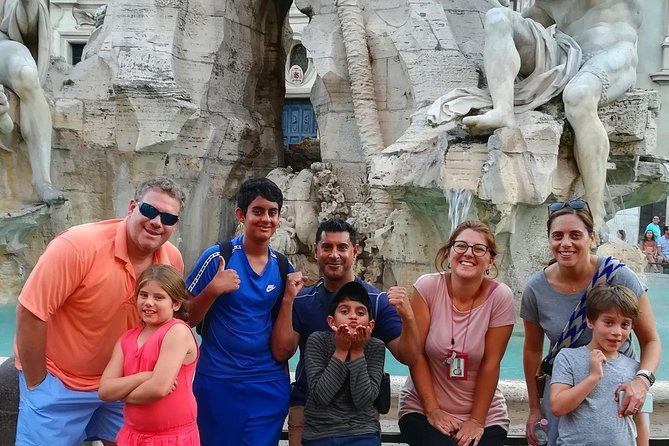 Sunset in Rome Tour for Kids & Families with pizza and gelato led by Alessandra
