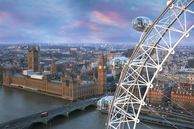 London Eye Fast-Track Ticket with Hop-On Hop-Off Tour and River Cruise