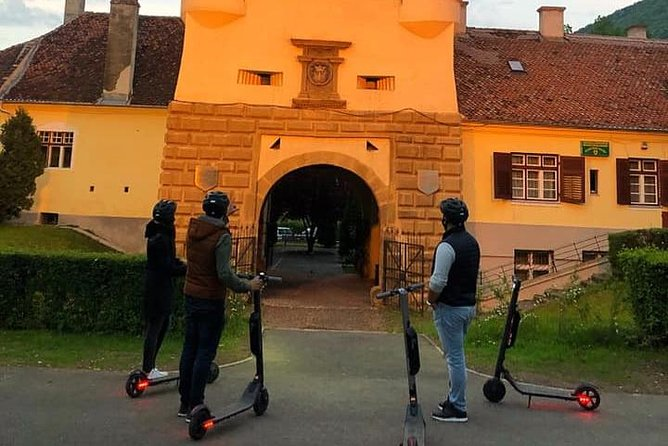 Explore Brasov With Electric Kick Scooters (Guided Tour)