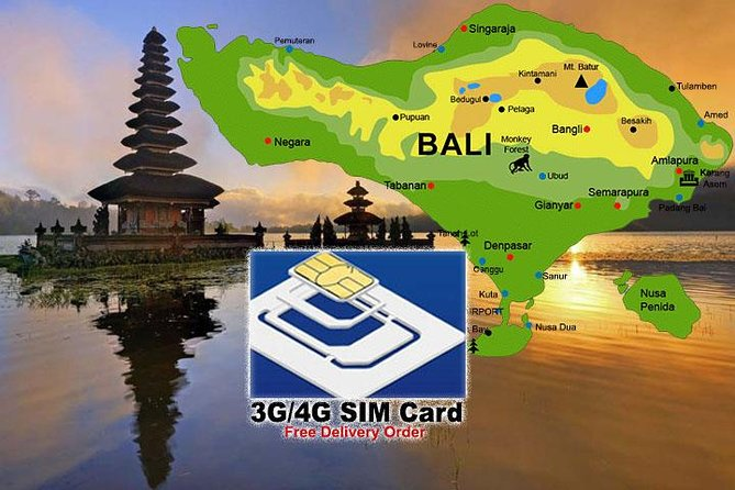 3G/4G Bali SIM Card for Mobile Data with Free Delivery Order