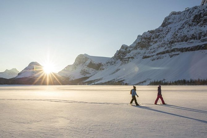 Eco friendly snowshoeing in Scenic Landscape