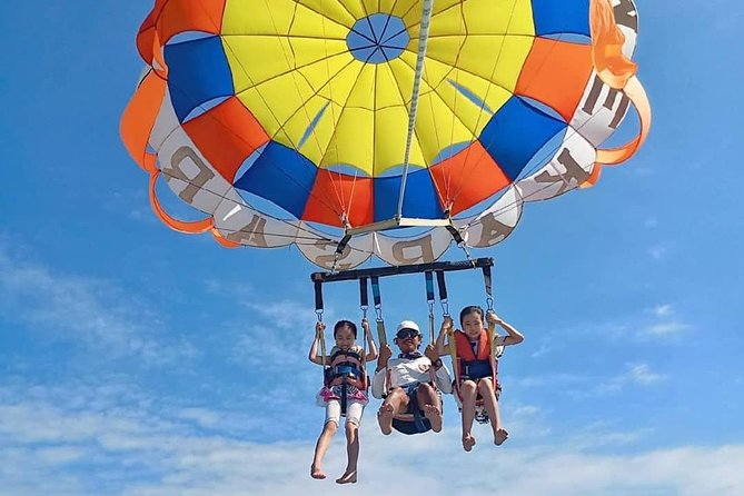Bali water sport package: Tandem Parasailing, Dive Walk, Fly Fish and Jet Ski